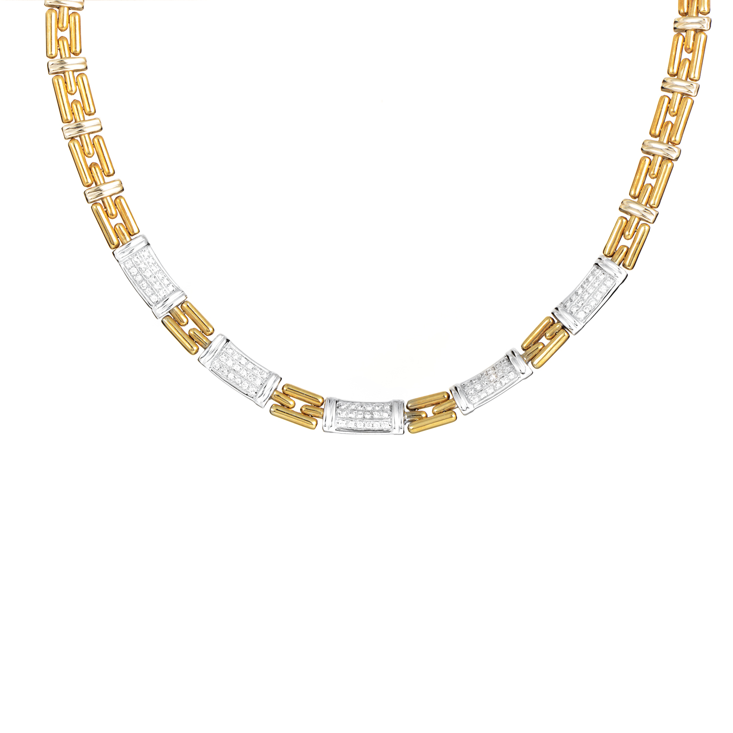 Chimento Women's 18K Multi-Tone Gold & Diamond Link Necklace