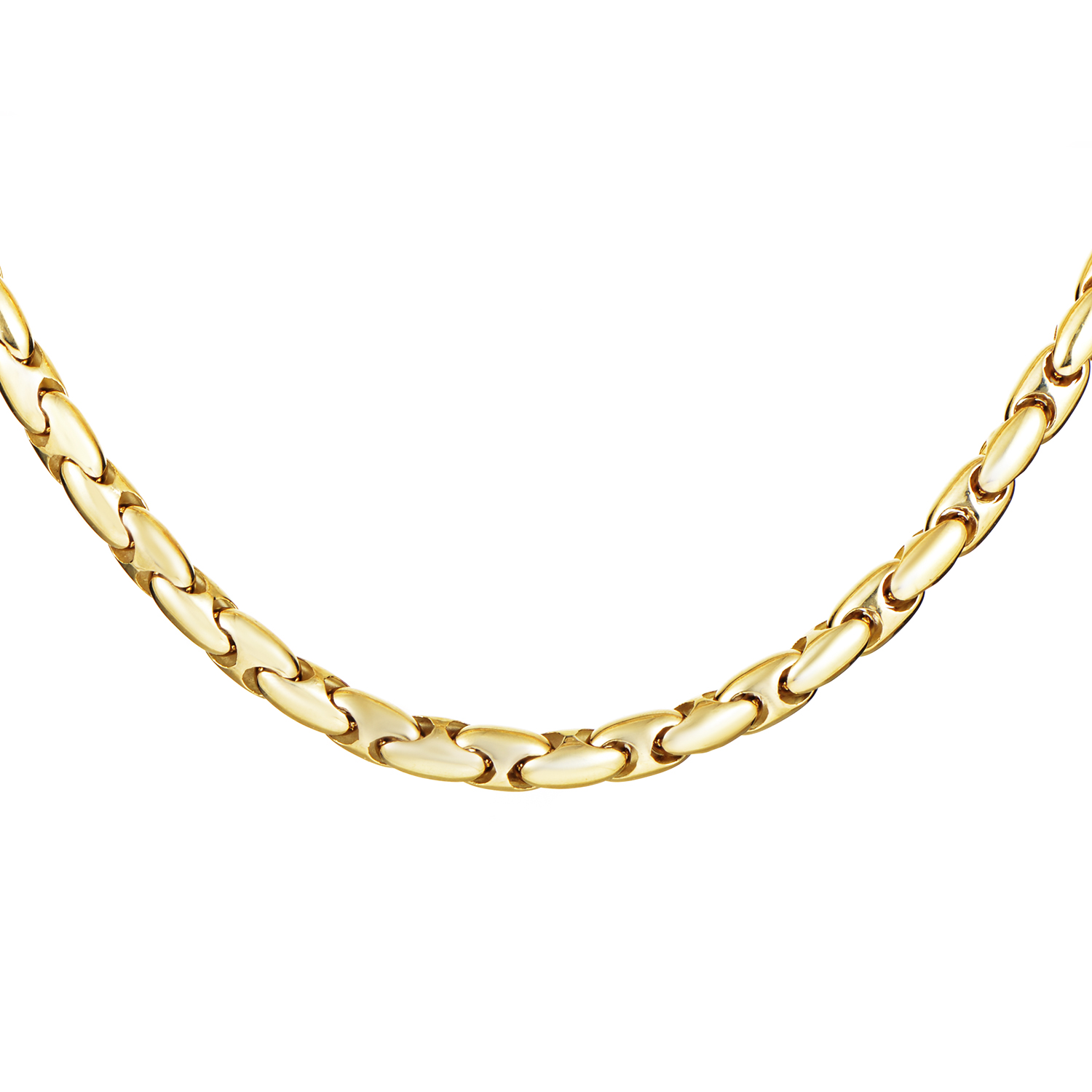 Women's 18K Yellow Gold Link Choker Necklace CHI02-071516