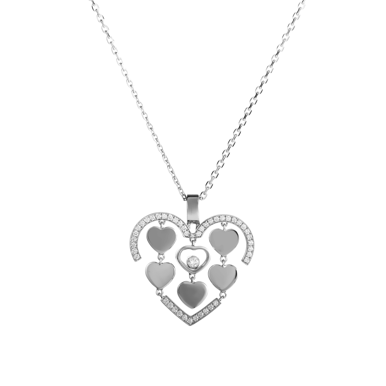 Happy Amore 18K White Gold Diamond Pendant Necklace 797219-1002