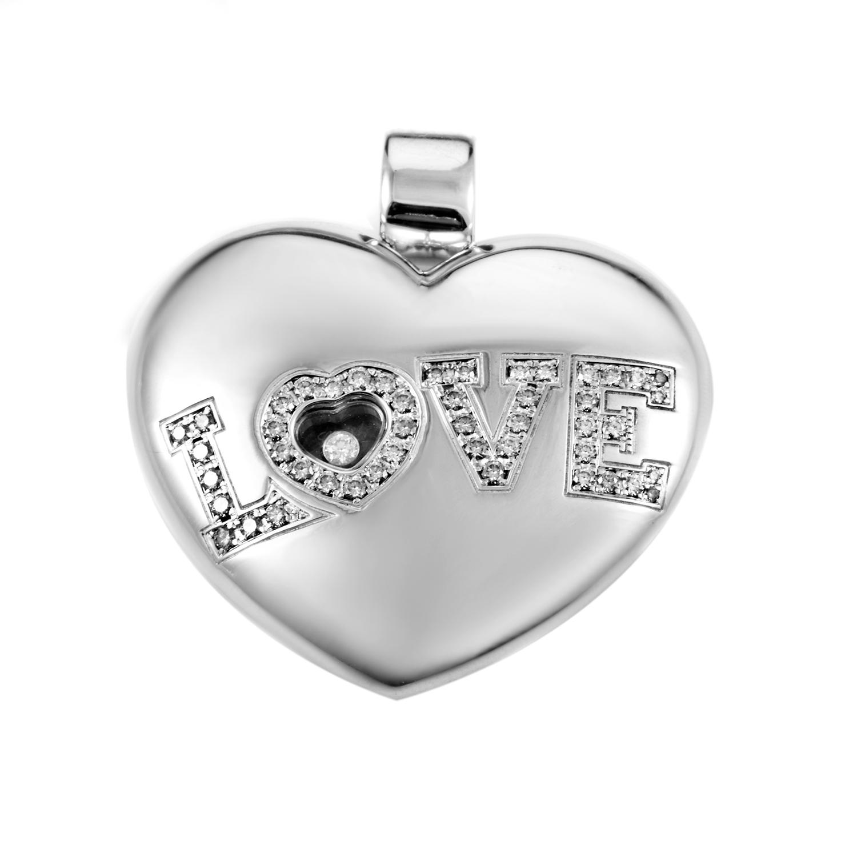 Chopard LOVE Women's 18K White Gold Diamond Enhancer Pendant