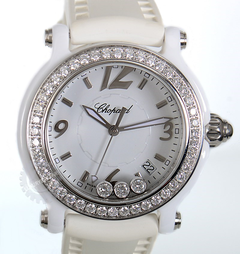 Happy Sport Ceramic Ladies Quartz Watch 288507-9012