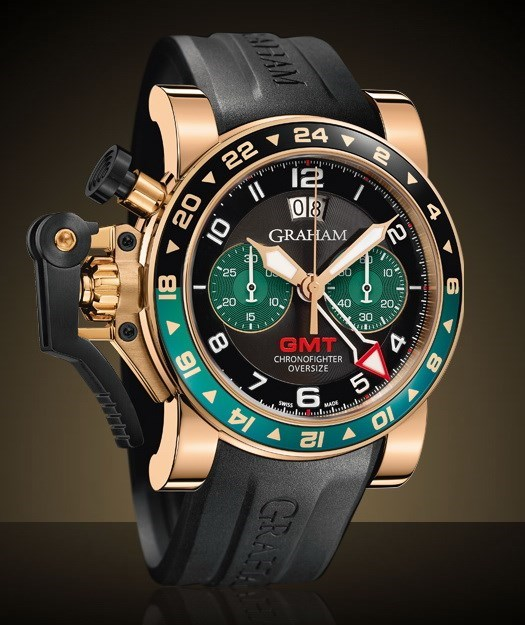 Chronofighter Oversize GMT All Gold Black 2OVGR.B16A