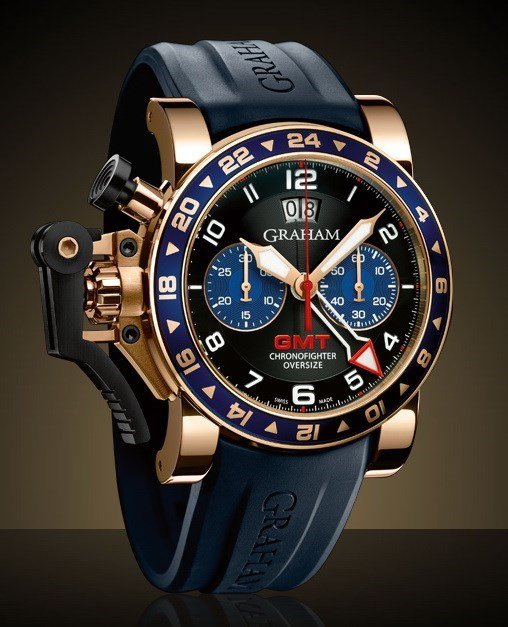 Chronofighter Oversize GMT Blue All Gold 2OVGR.B26A