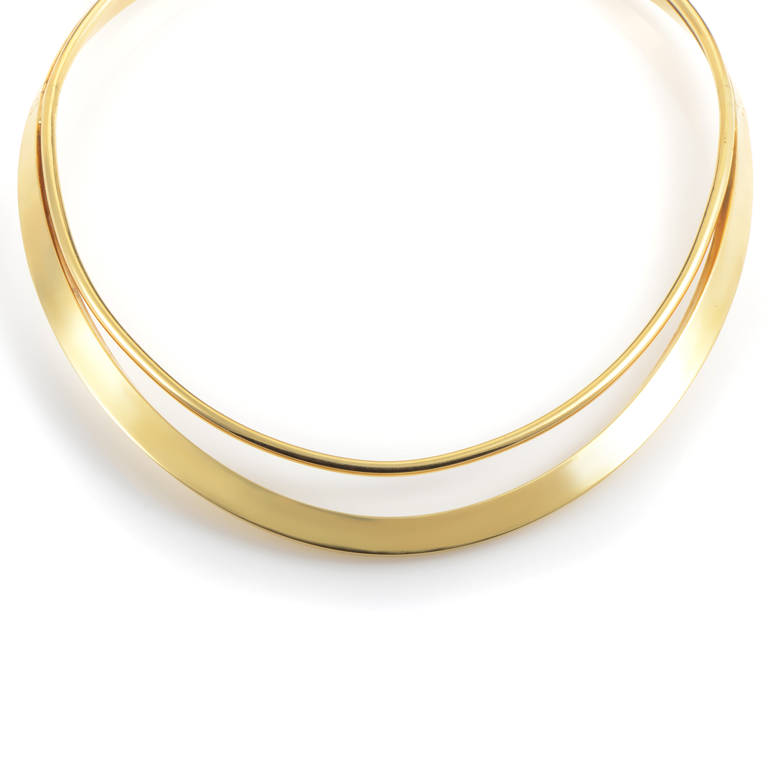 Women's 18K Yellow Gold Cuff Necklace