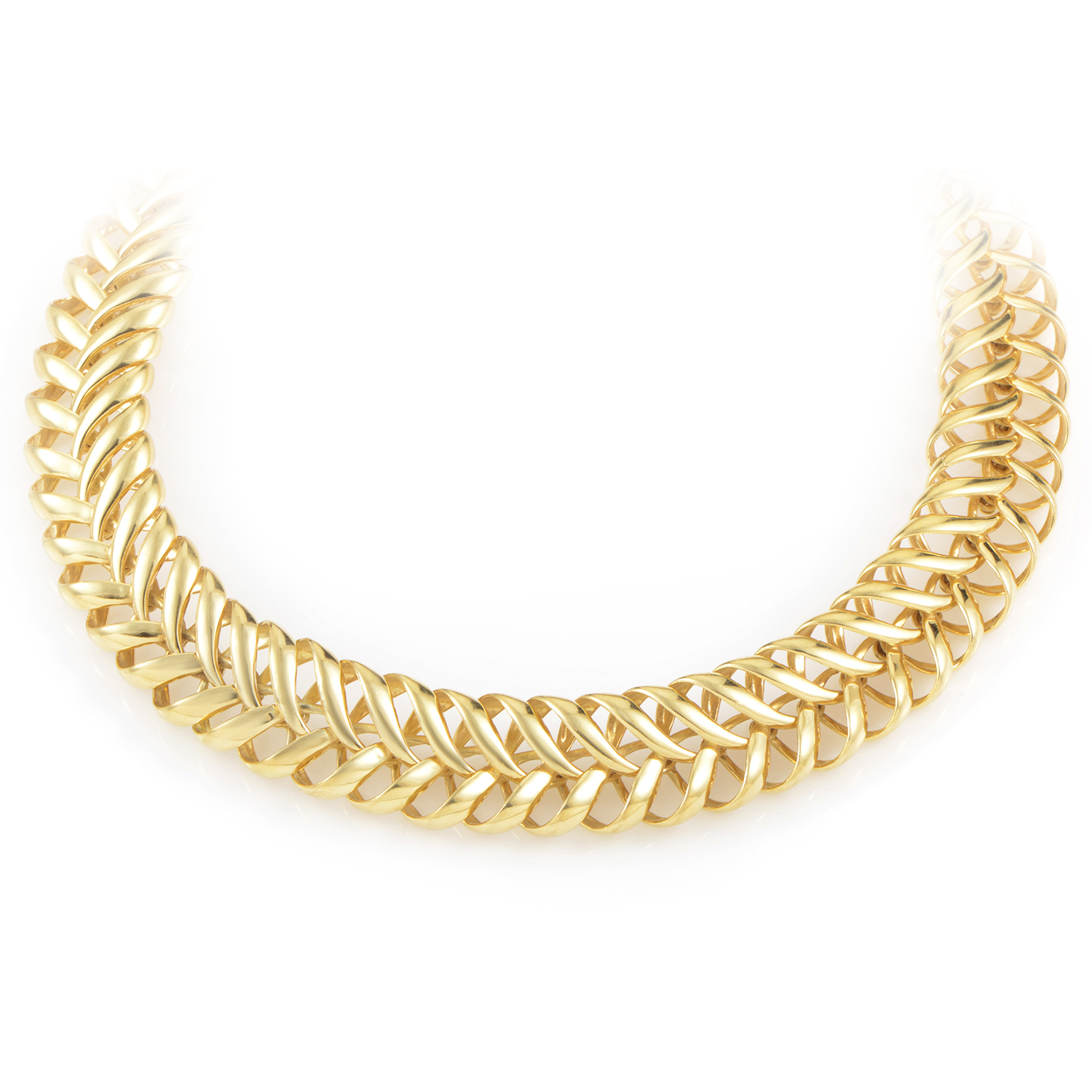 Women's 18K Yellow Gold Choker Necklace