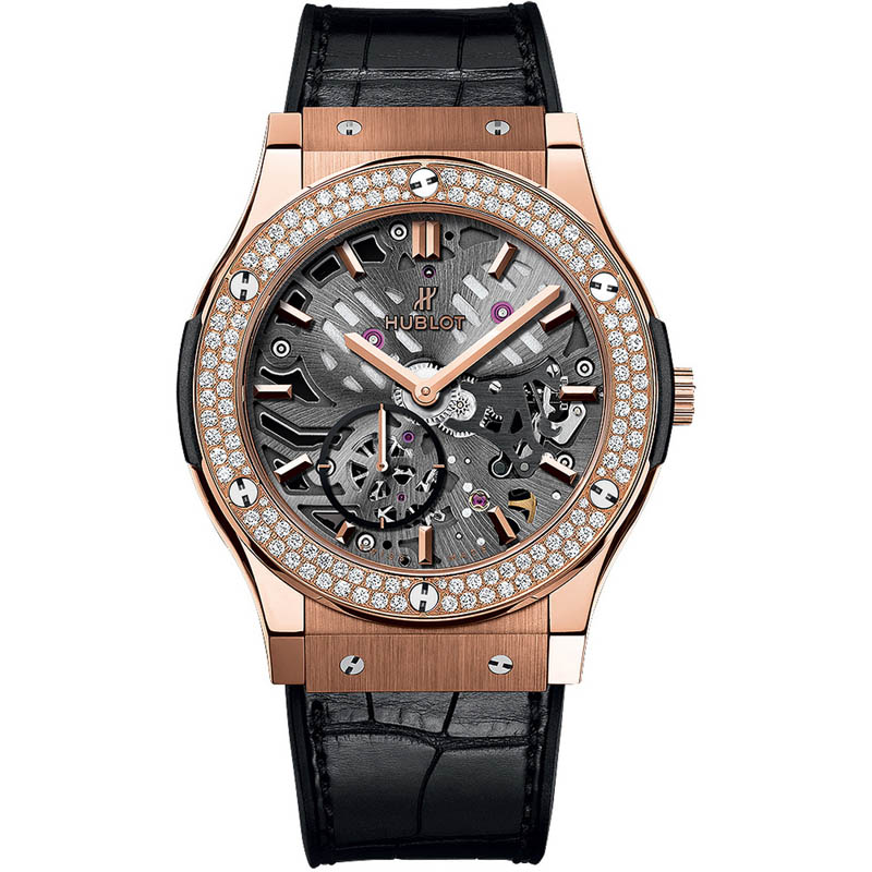 Classic Fusion Classico Ultra-thin Skeleton King Gold Diamonds 545.OX.0180.LR.1104 (King Gold)