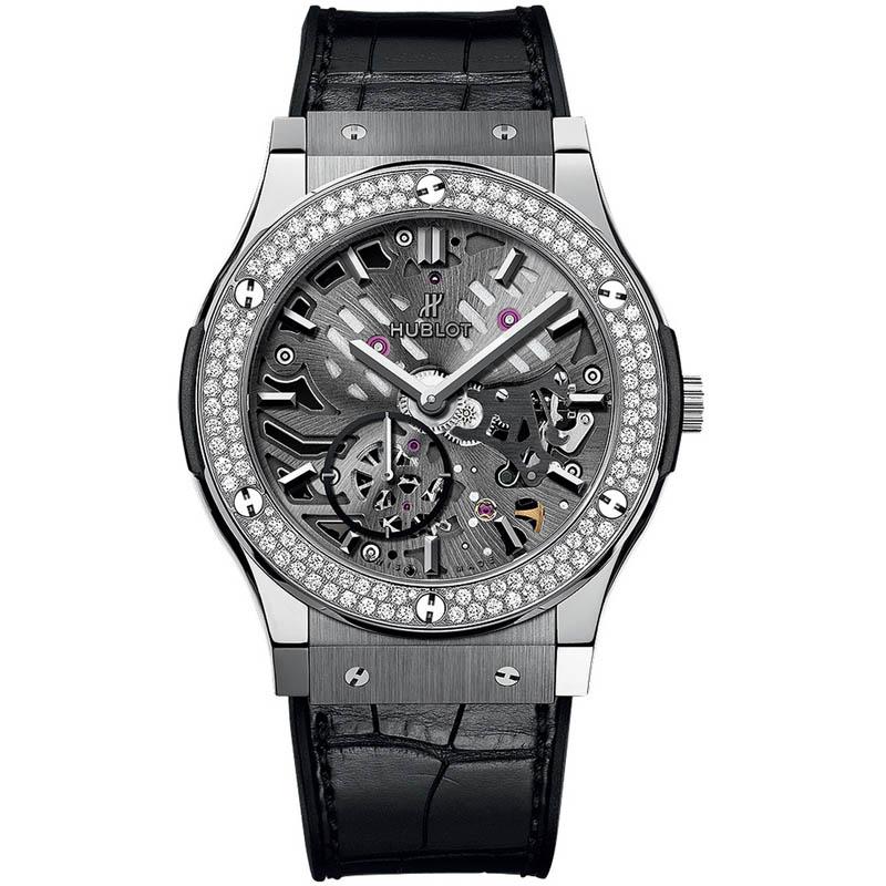 Classic Fusion Classico Ultra-thin Skeleton Titanium Diamonds 545.NX.0170.LR.1104 (Titanium)