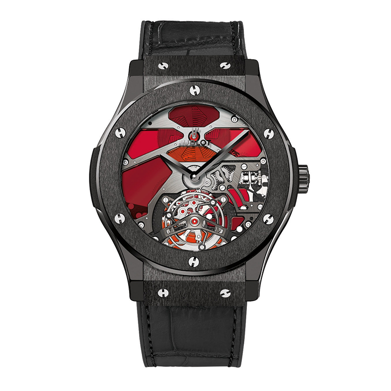 Classic Fusion Tourbillon Ceramic Red Vitrail 502.CX.0001.LR