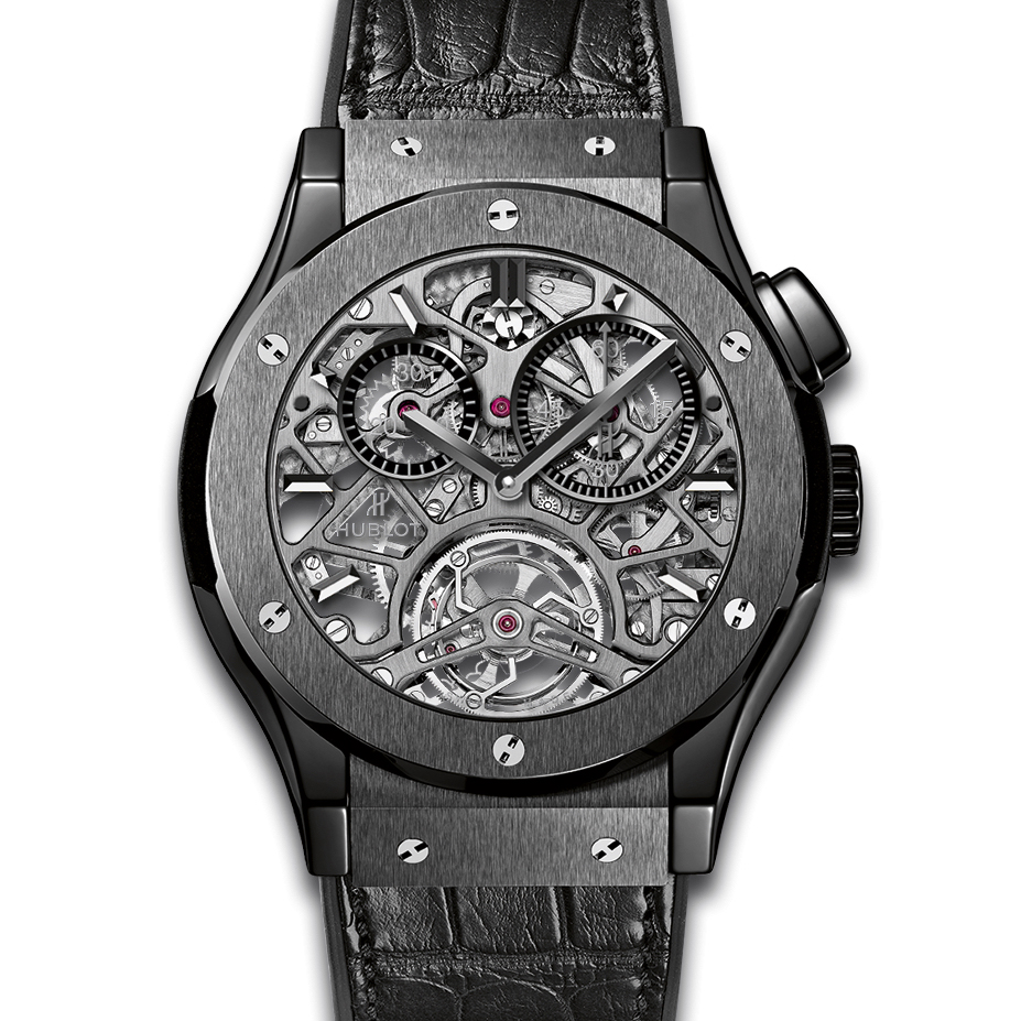 Classic Fusion Tourbillon Skeleton All Black 506.CM.0140.LR (Ceramic)