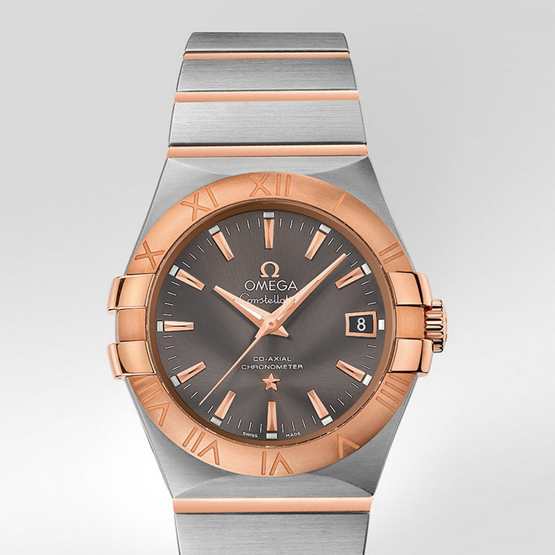 Constellation Co-Axial 35 mm 123.20.35.20.06.002 (Stainless Steel/Rose Gold)