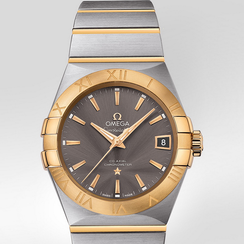 Constellation Omega Co-Axial 38 mm 123.20.38.21.06.001 (Stainless Steel/Yellow Gold)