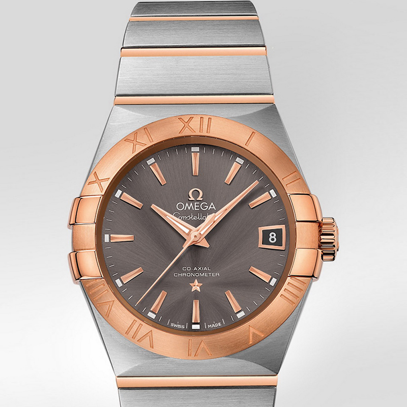 Constellation Omega Co-Axial 38 mm 123.20.38.21.06.002 (Stainless Steel/Rose Gold)