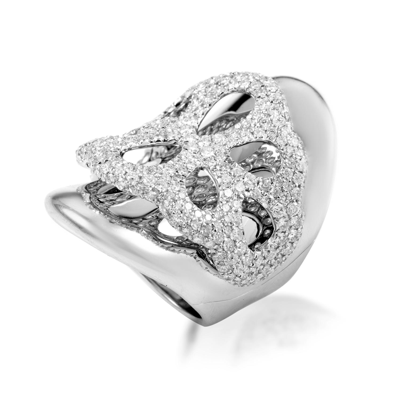 Women's 18K White Gold Diamond Band Ring 22018972