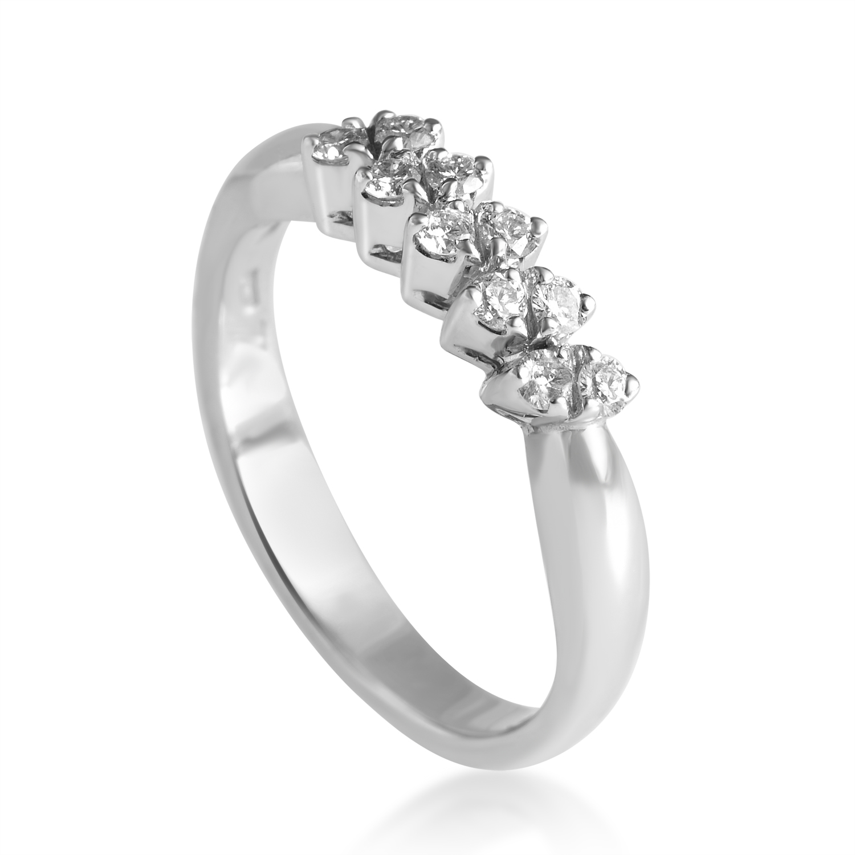 18K White Gold Diamond Band Ring 20013003
