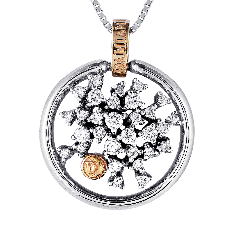 18K Multi-Tone Gold Diamond Pendant Necklace 20017764