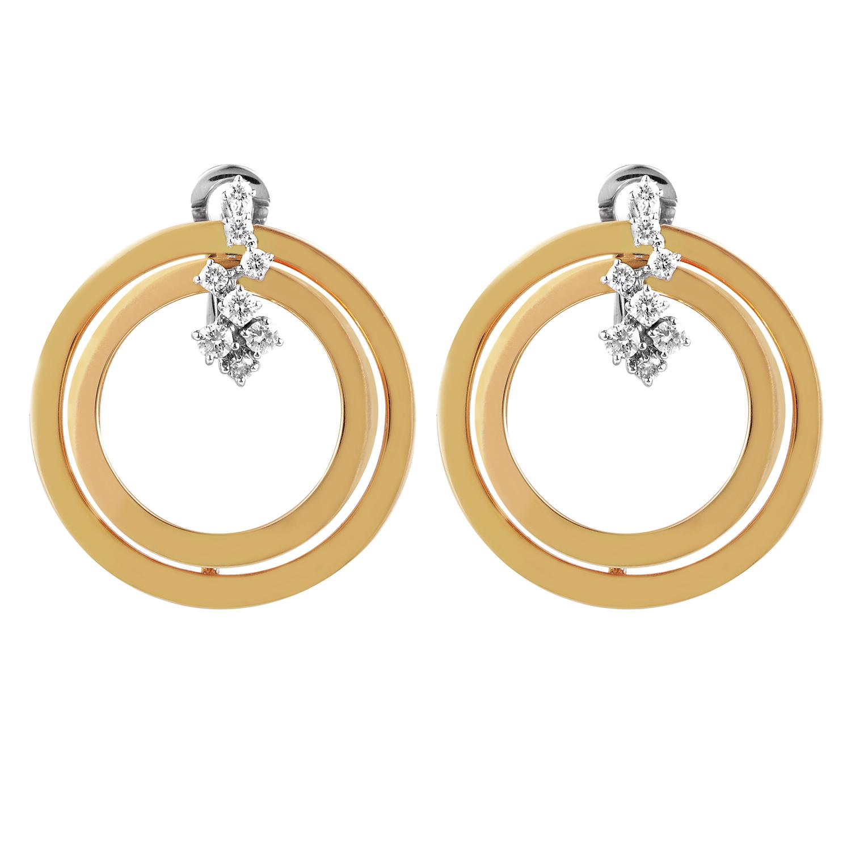 Sophia Loren 18K Multi-Gold Diamond Earrings 20019463
