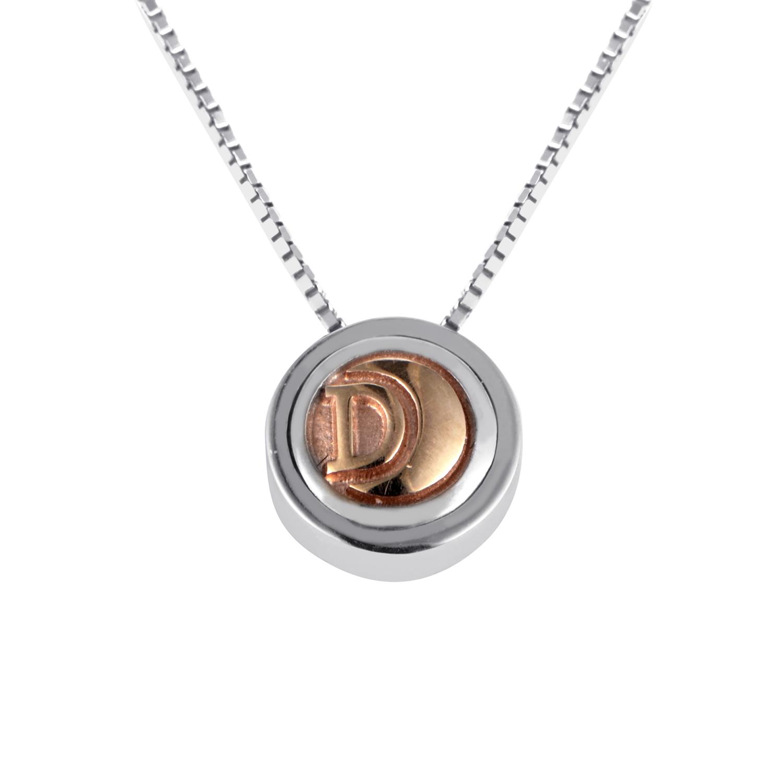 18K Multi-Tone Gold Pendant Necklace 20021302
