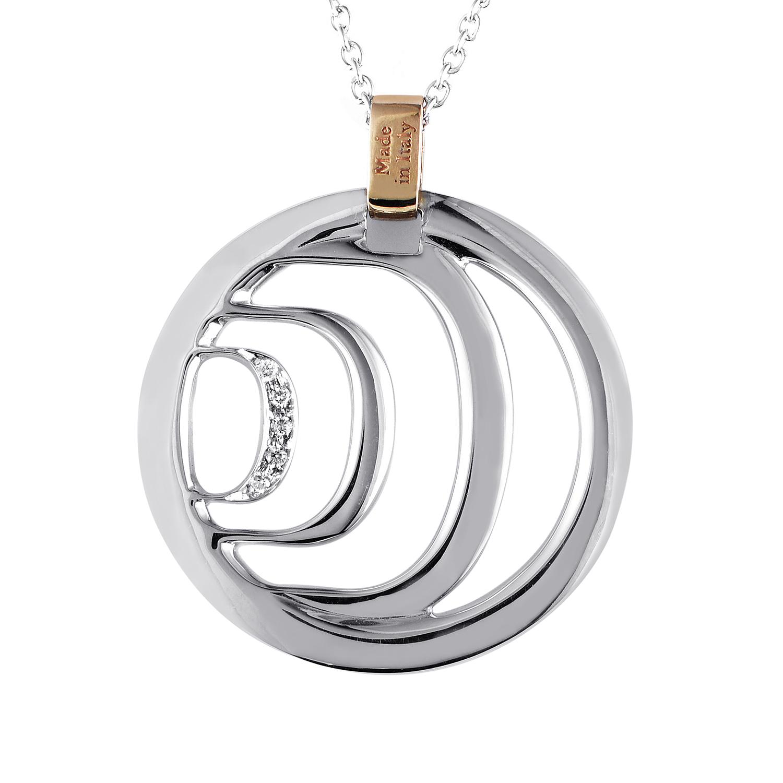 18K Multi-Tone Gold Diamond Pendant Necklace 20023977