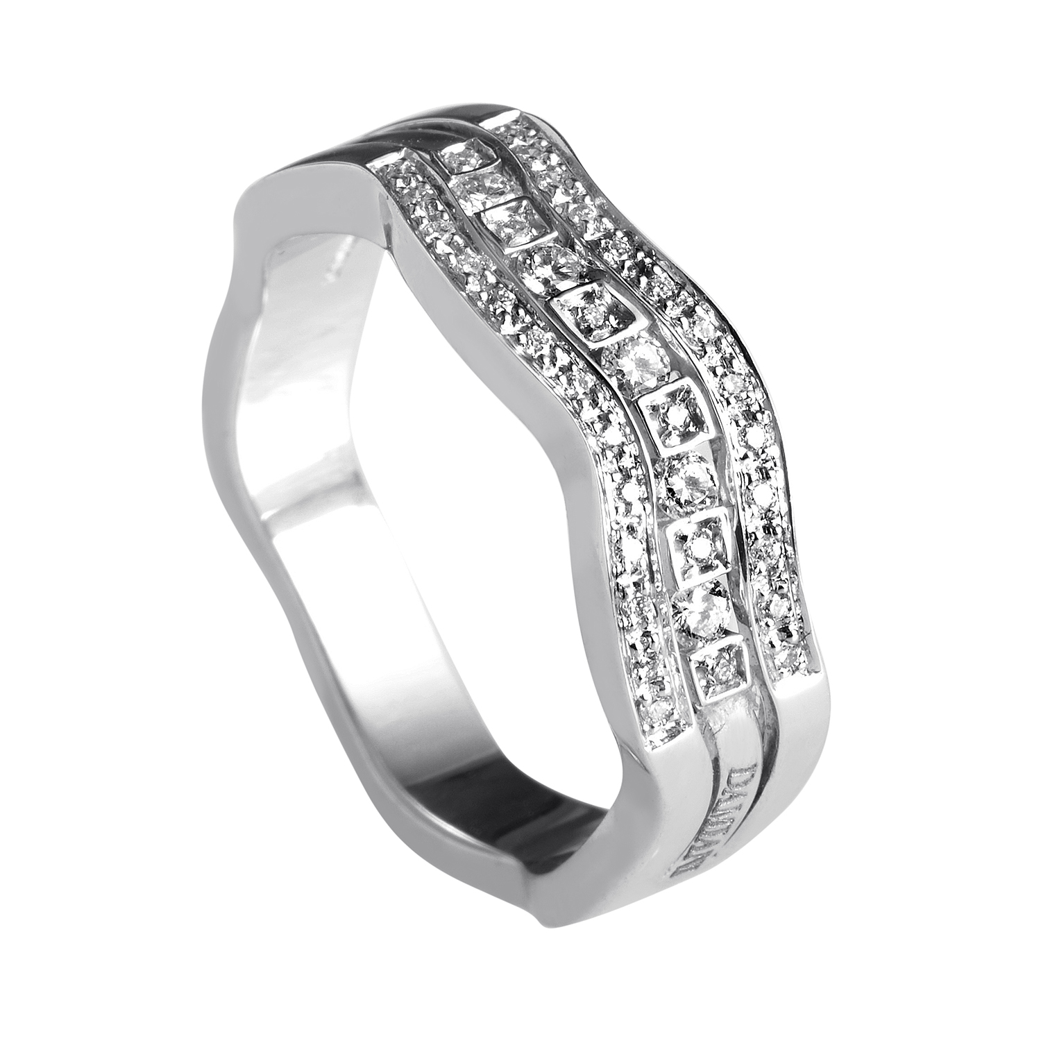 Belle Epoque 18K White Gold Diamond Band Ring