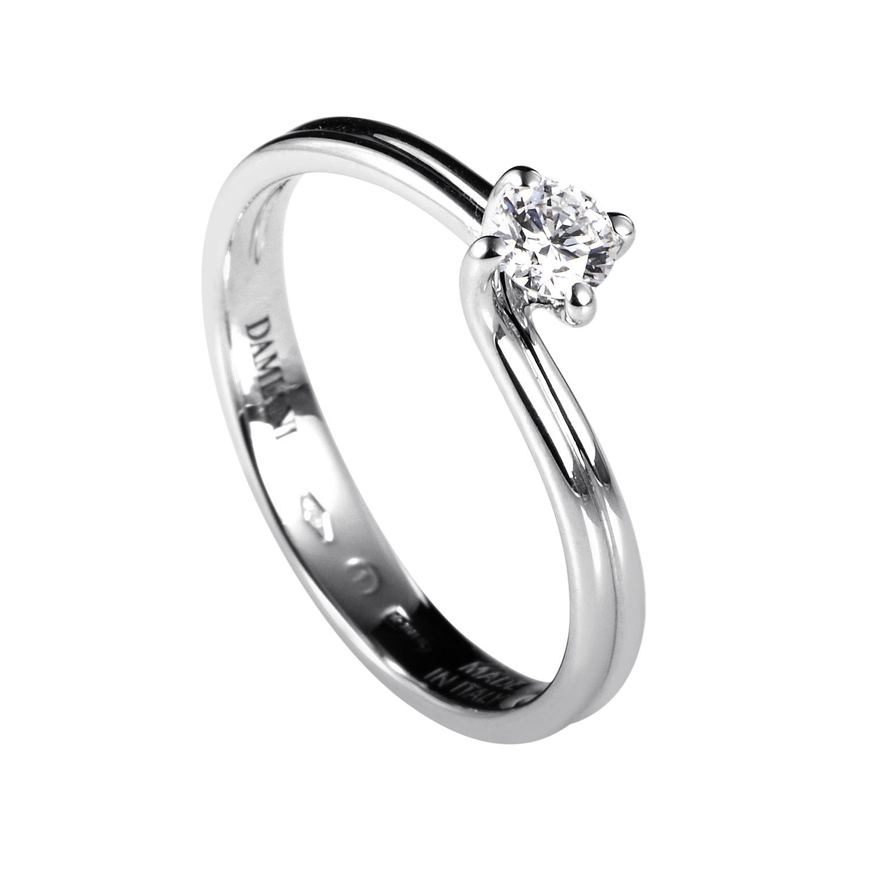 Valentino 18K White Gold .20ct Diamond Solitaire Engagement Ring