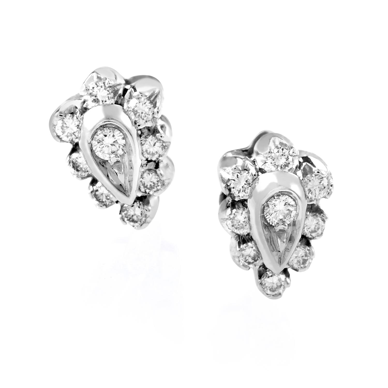 Damiani 18K White Gold Diamond Stud Earrings DAM01-073115