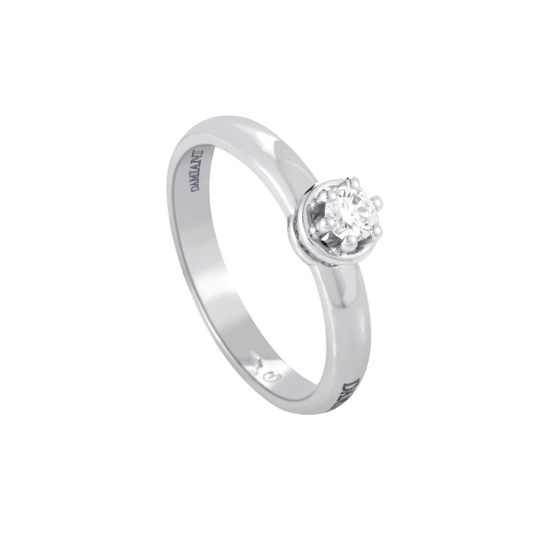 18K White Gold Diamond Solitaire Engagement Ring DAM05-071615