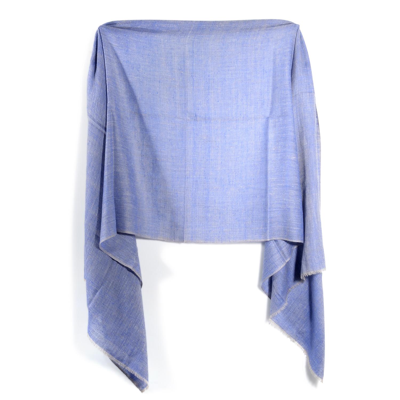 Denim-Blue Pashmina Double Weave Scarf 22451