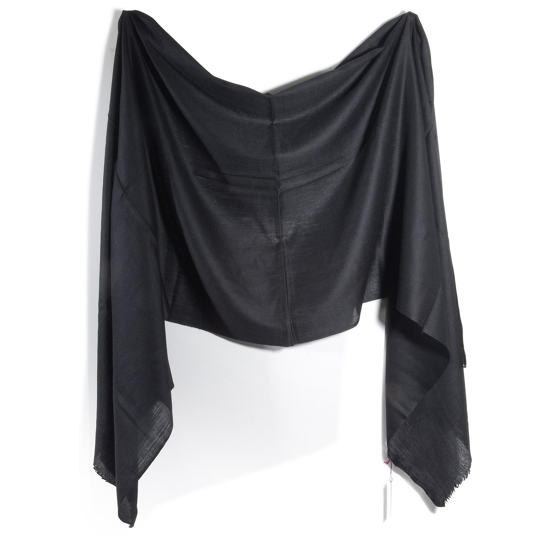 Black Pashmina Diamond Weave Scarf 22453