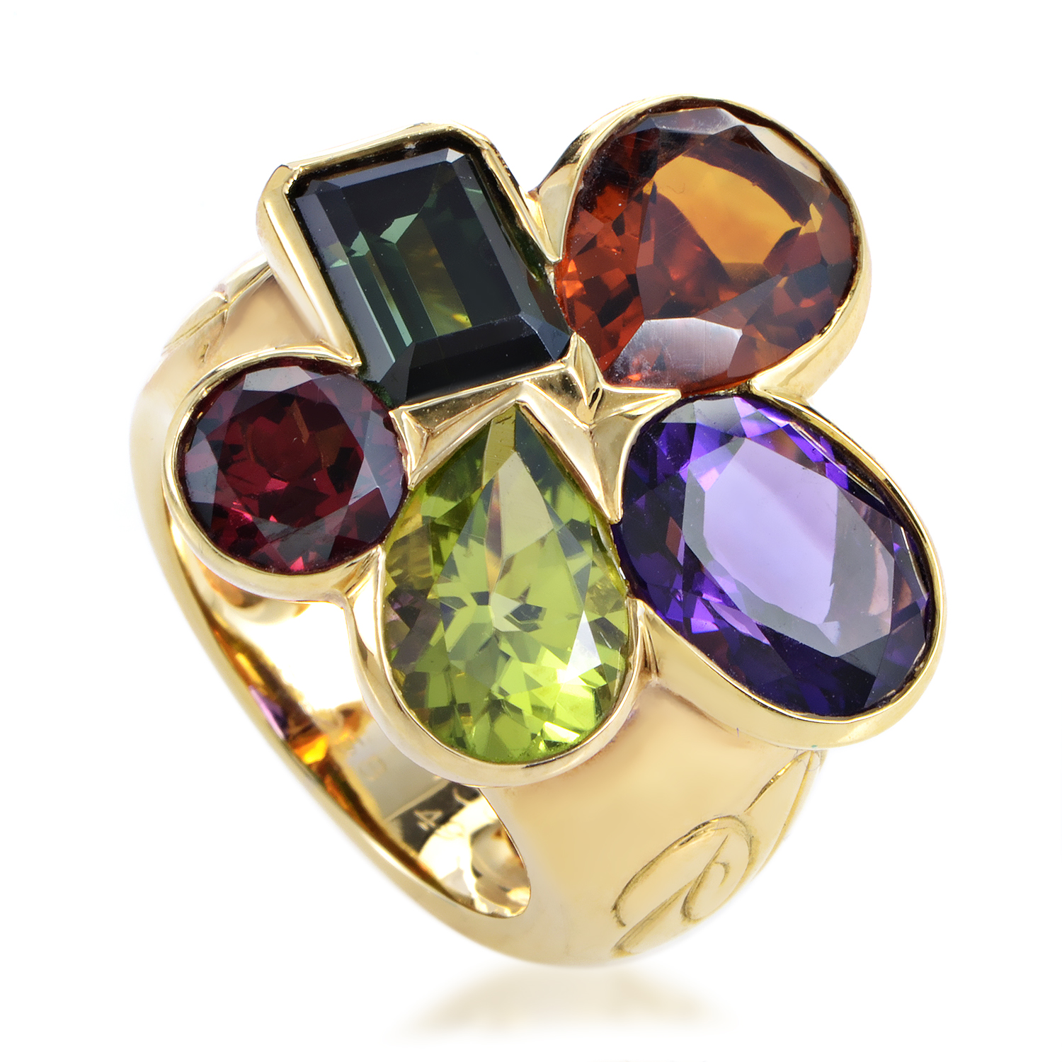 Dior Women's 18K Yellow Gold Multi-Gemstone Cluster Ring