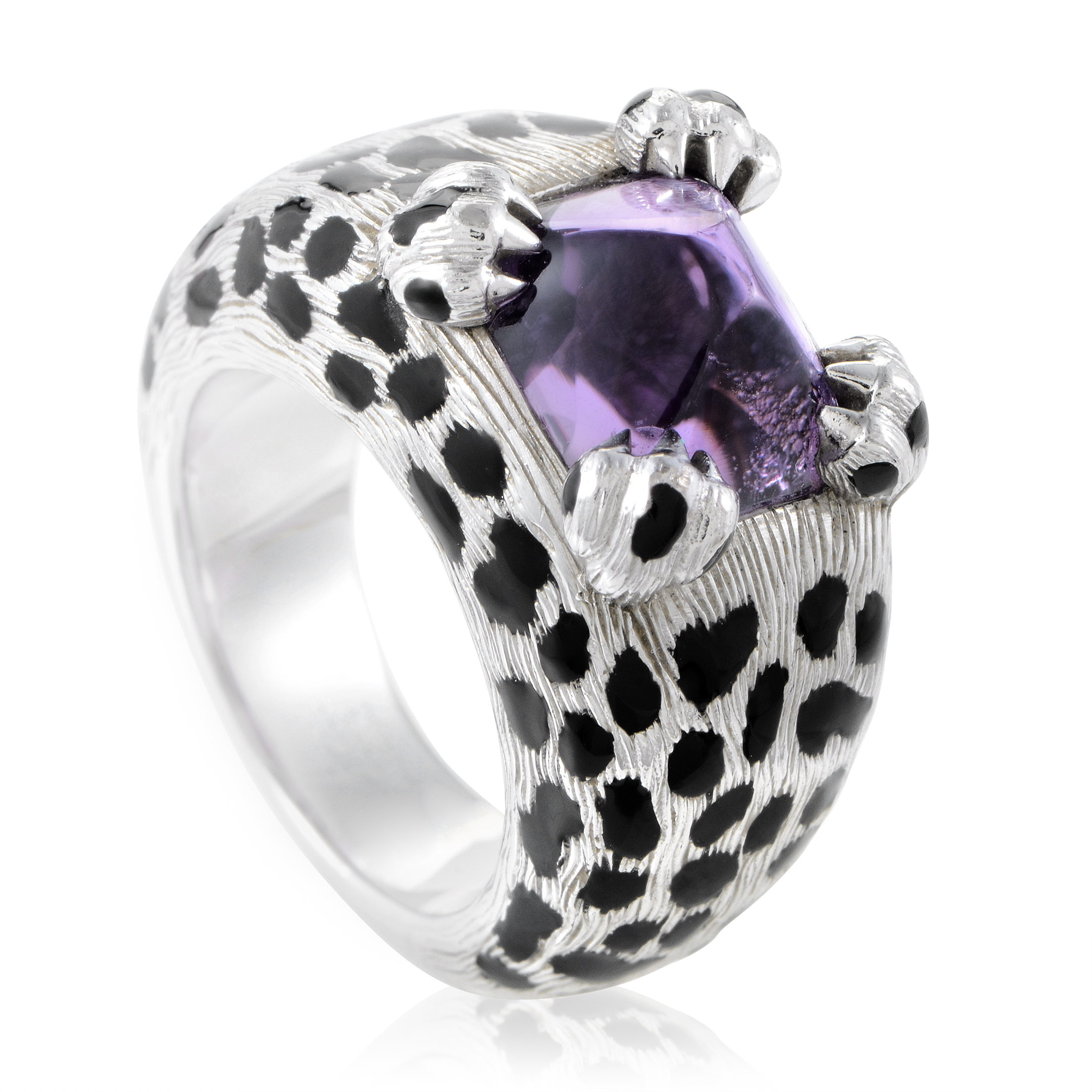 Dior Mitza Women's 18K White Gold Amethyst Ring