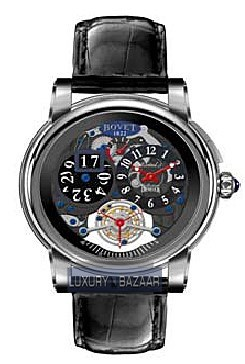Dimier Recital 5 46 Tourbillon and Big Date DT7-GD-007