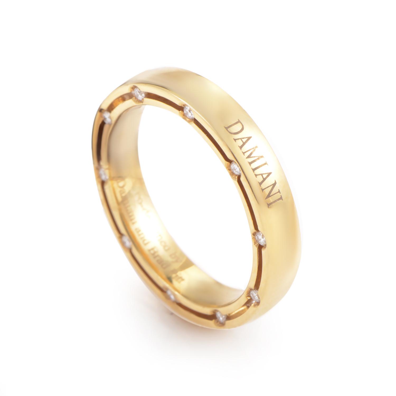 D.Side Brad Pitt 18K Yellow Gold 20 Diamond Band Ring