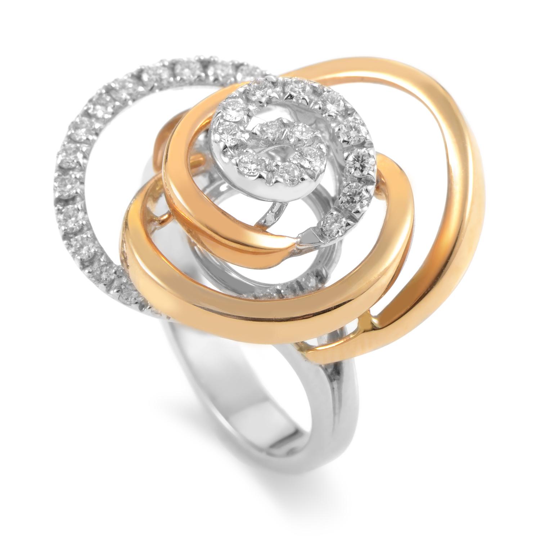 18K Multi-Tone Gold Diamond Ring 20020633