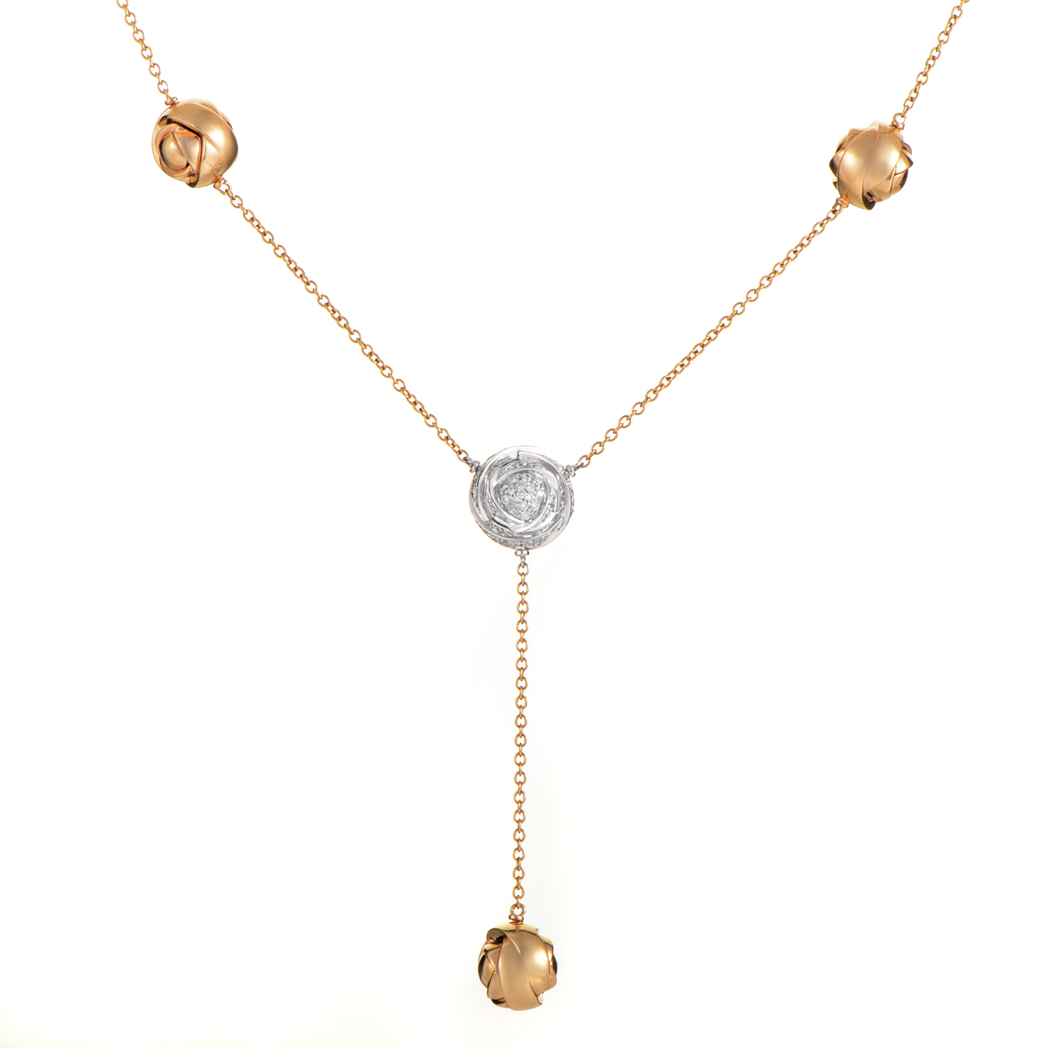 Bocciollo 18K Multi-Tone Gold Diamond Necklace