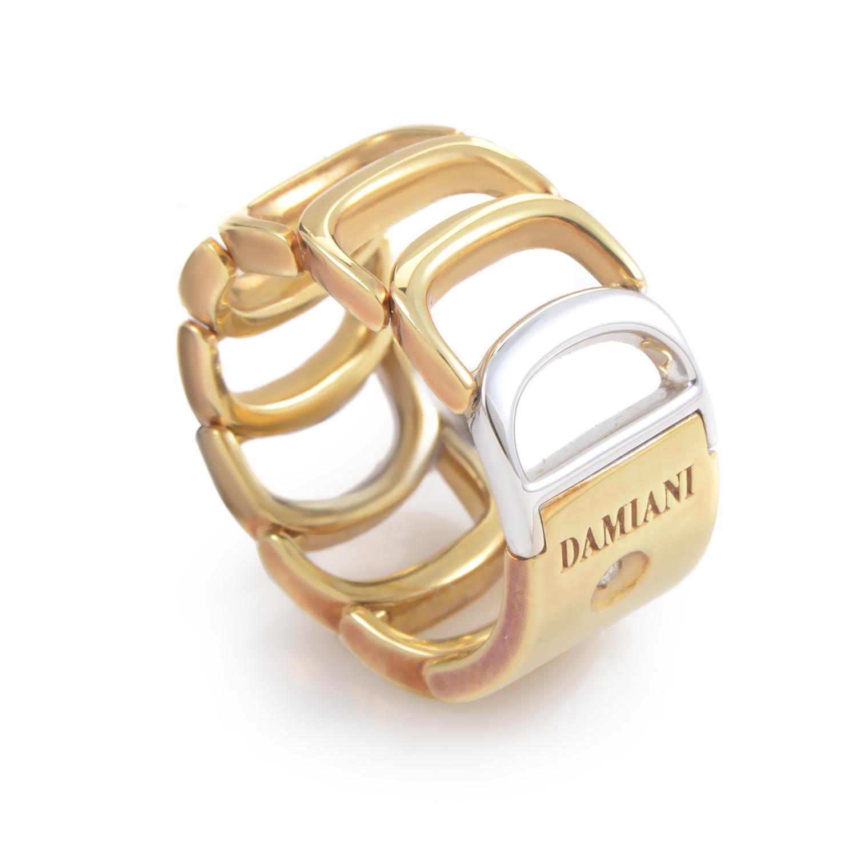 Damianissima 18K Multi-Tone Gold Band Ring 20024800