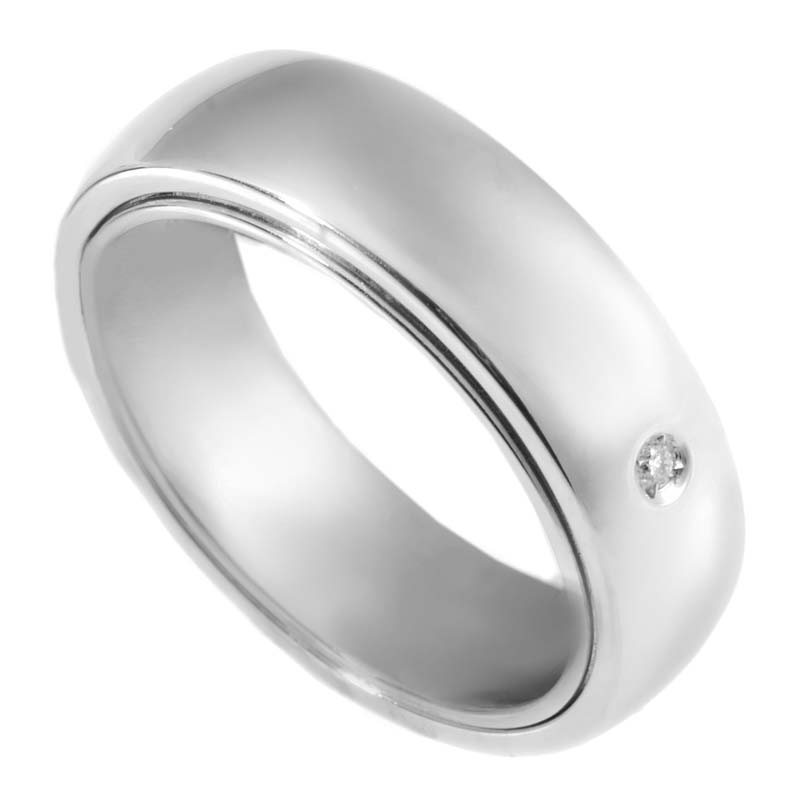 Orbital 18K White Gold Band Ring 20027342