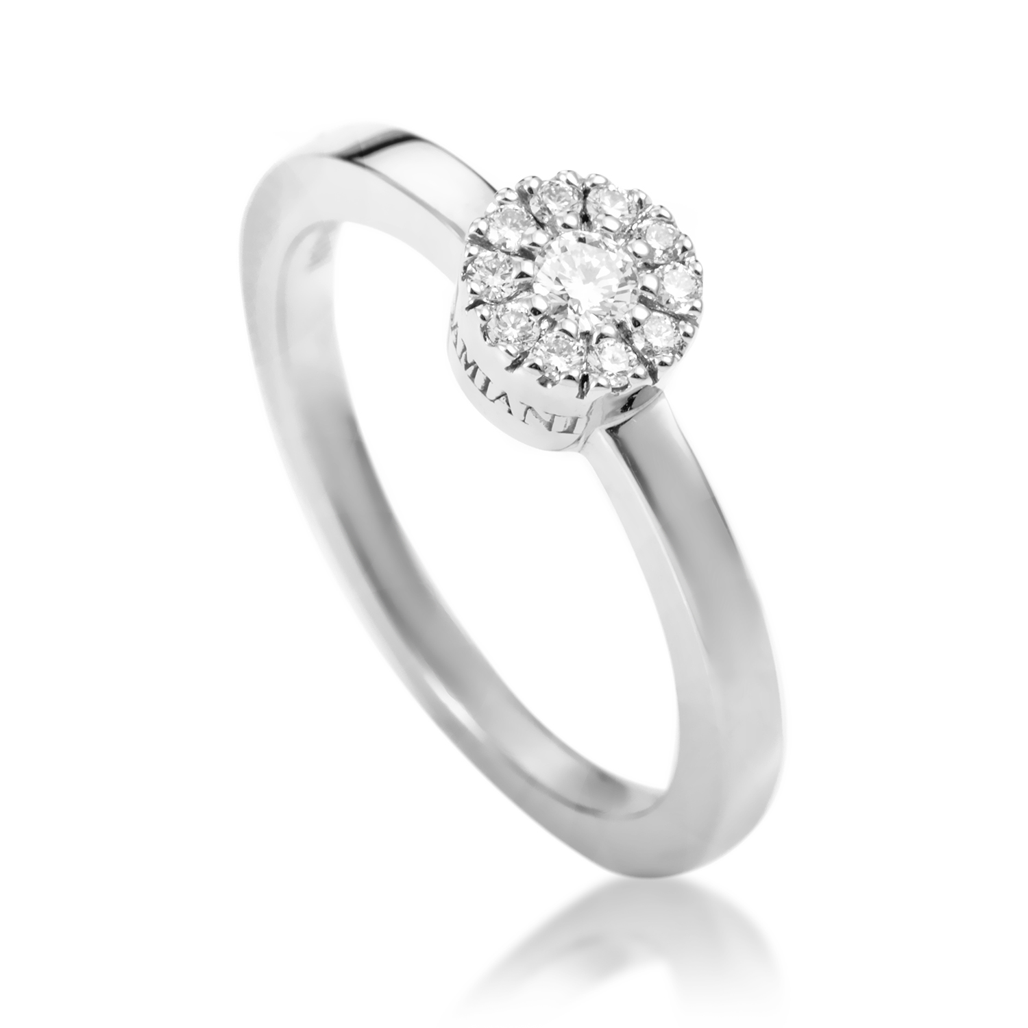 18K White Gold Diamond Engagement Ring 20029120