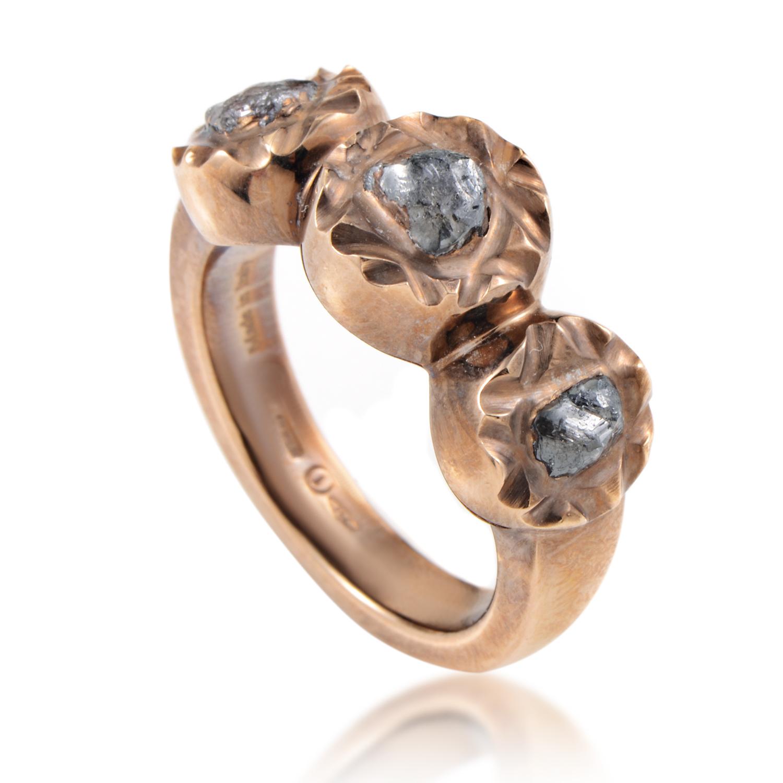 The Maji 18K Rose Gold Diamond Sharon Stone Ring