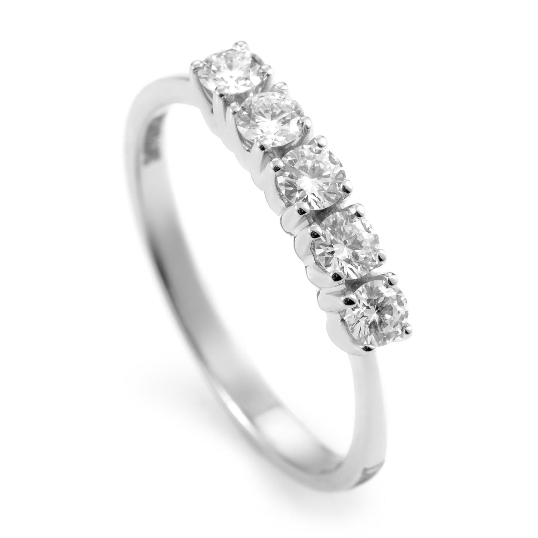 18K White Gold Diamond Band Ring 20039950