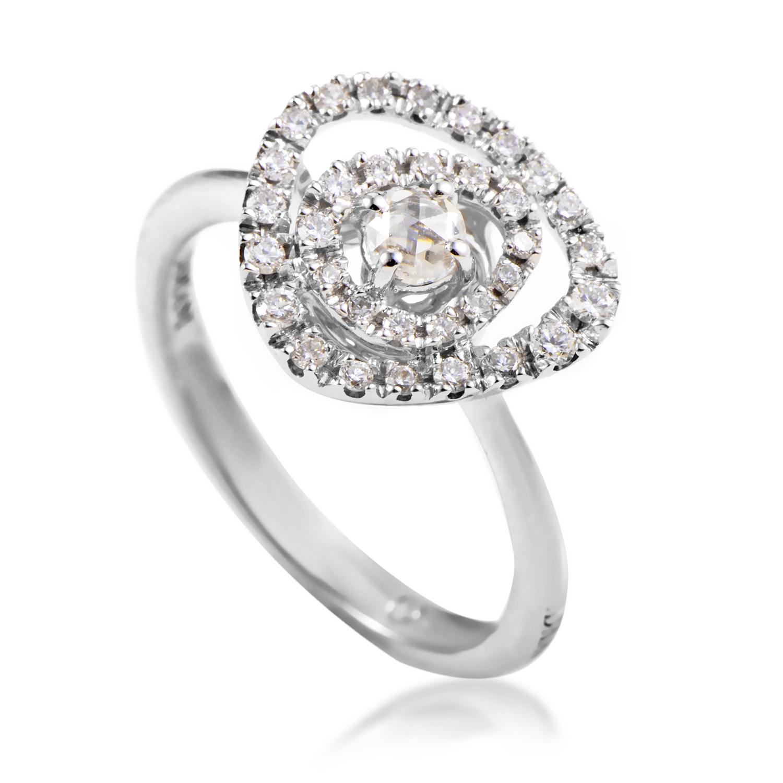 18K White Gold & Diamond Ring 20044819