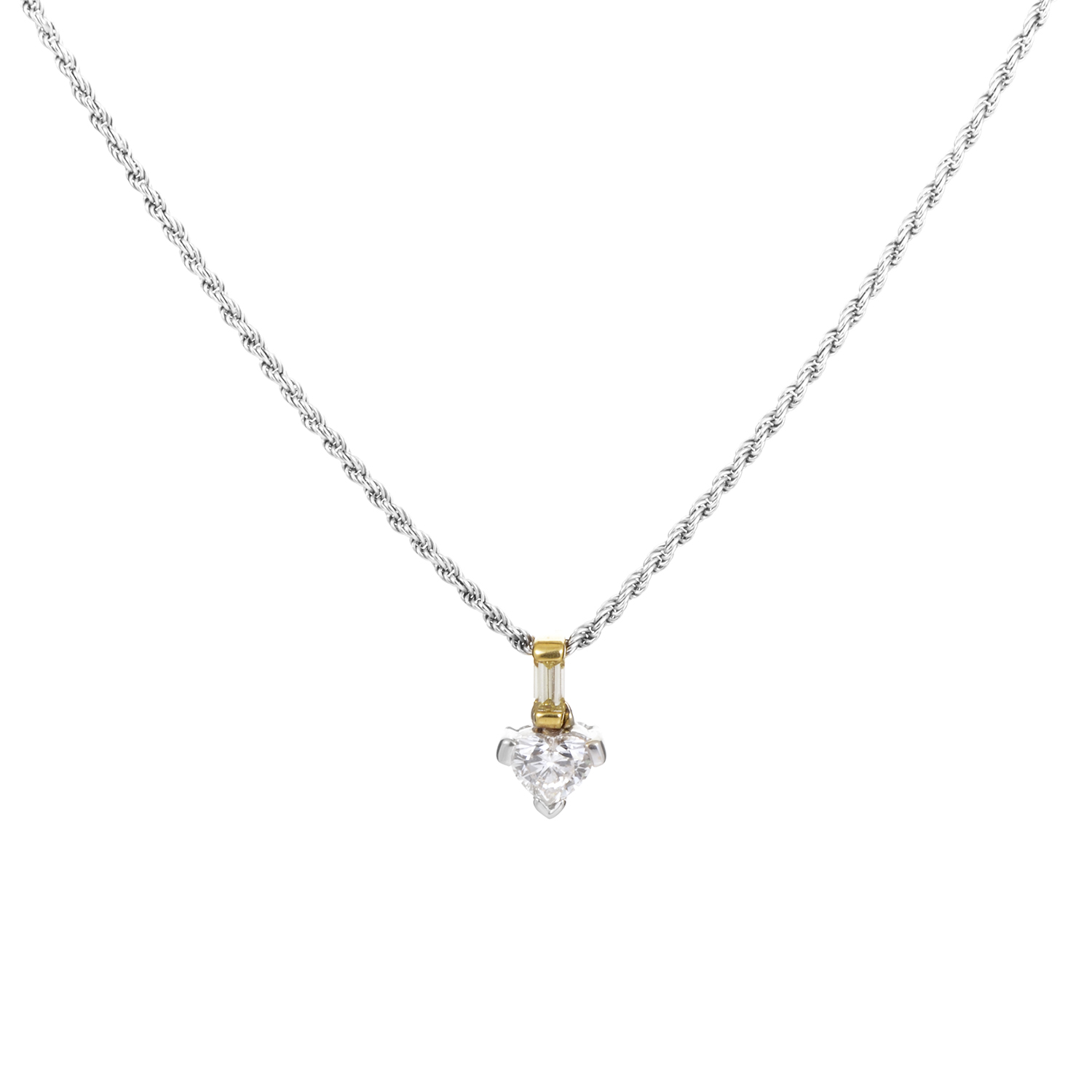 Damiani 18K Multi-Tone Gold Diamond Pendant Necklace