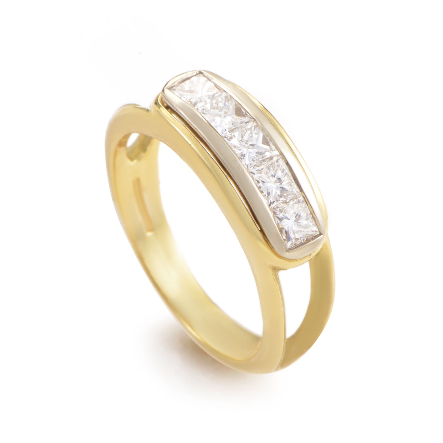 Damiani 18K Multi-Tone Gold Diamond Band Ring