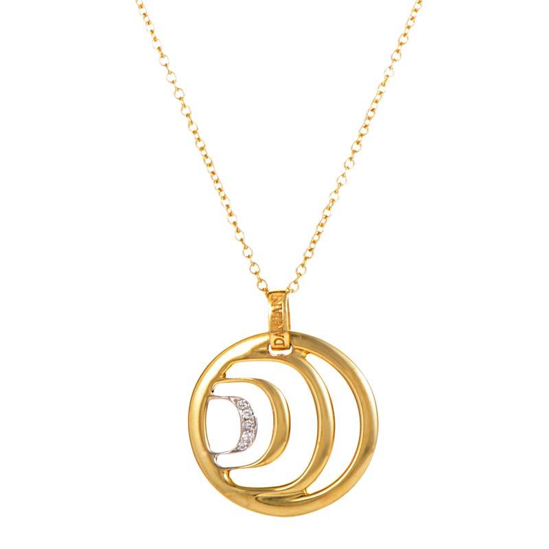 18K Multi-Tone Gold Diamond Pendant Necklace 20023974