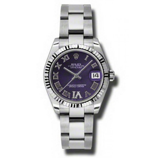 Oyster Perpetual Datejust 31mm Fluted Bezel 178274 pdro
