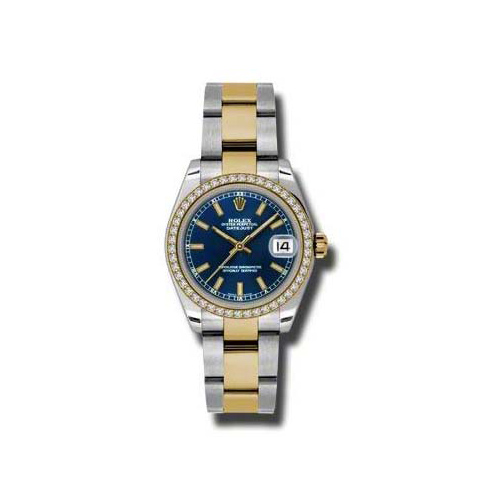 Oyster Perpetual Datejust 31mm Diamond Bezel 178383 blio