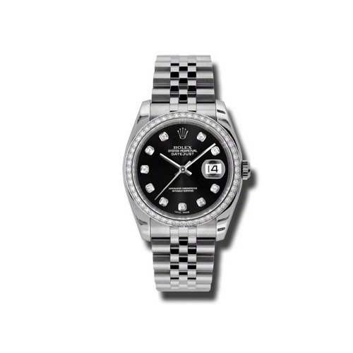 Oyster Perpetual Datejust 36mm Diamond Bezel 116244 bkdj