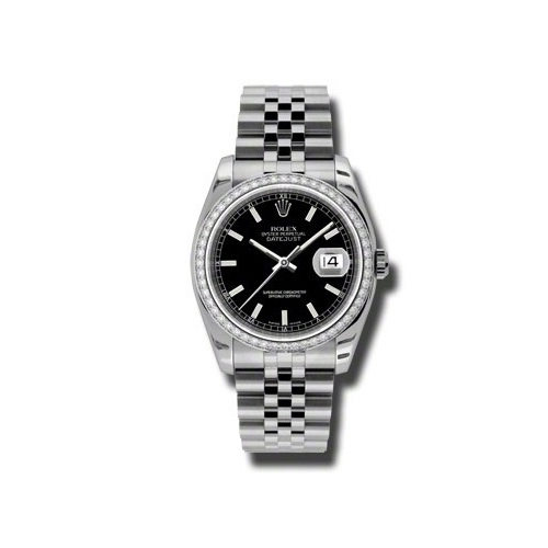 Oyster Perpetual Datejust 36mm Diamond Bezel 116244 bkij