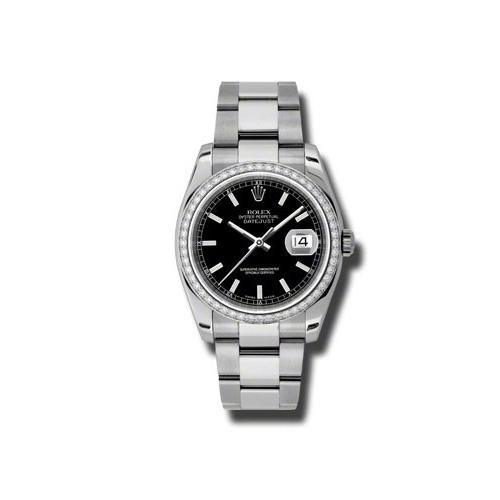 Oyster Perpetual Datejust 36mm Diamond Bezel 116244 bkio