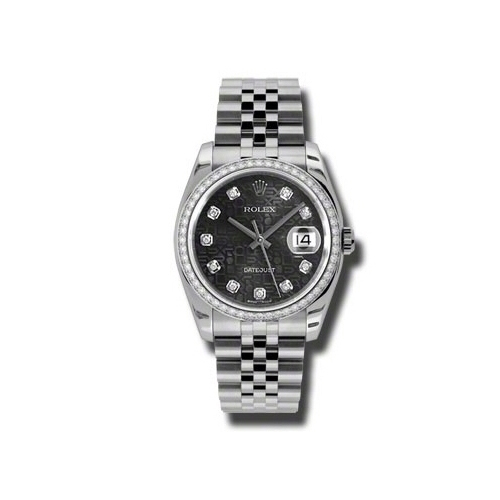 Oyster Perpetual Datejust 36mm Diamond Bezel 116244 bkjdj