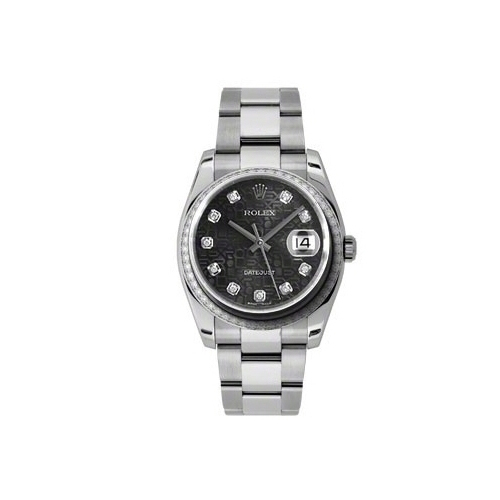 Oyster Perpetual Datejust 36mm Diamond Bezel 116244 bkjdo